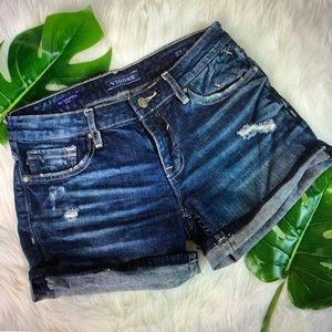 Vigoss - the Thompson distressed ripped jean short